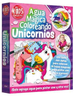 Libro Para Colorear Unicornios, Agua Mágica