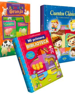 Pack Mini libros Acartonados Mi Primera Biblioteca